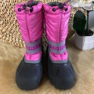 SOREL 💞Cub Winter - snow Boots girls Sz 13